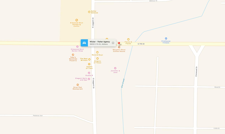 wicker-parker location